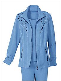 Studio Flatback Rib Knit Jacket by D & D Lifestyle 8957223