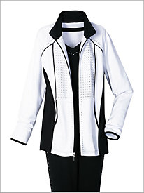 Black, White and Bling Jacket by D & D Lifestyle