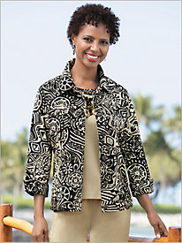 Tahitian Tropical Weave Jacket