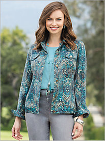 Iridescent Ikat Jacket...