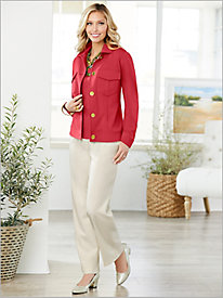 Look-Of-Linen Jacket Separates