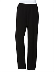 French Terry Knit Pull-On Pants by D & D Lifestyle 9173524