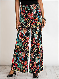 Caribbean Nights Print Knit Pants