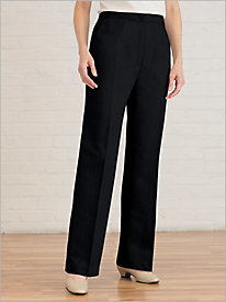 Stretch Washable Wool Zip-Front Pants