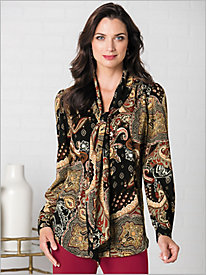 Regal Paisley Blouse by Brownstone Studio®