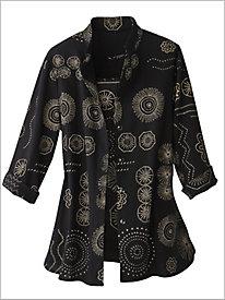 Stamp Print Mojave® Big Shirt