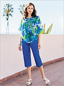 Corsica Tropical Overlay Top & Capris by Alfred Dunner
