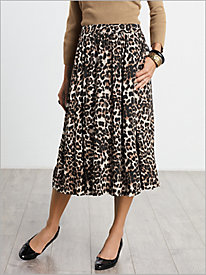 Cheetah Print Skirt by Sag Harbor