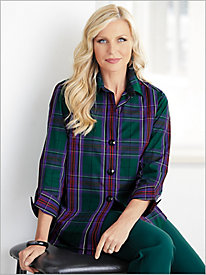Emerald Tartan Plaid Shirt by Foxcroft