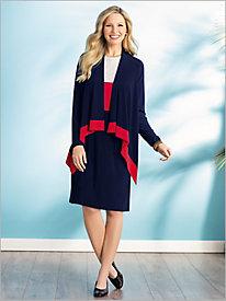 Colorblocked Jacket Dress...