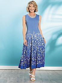 Ombr & #233 Floral Dress 9314136