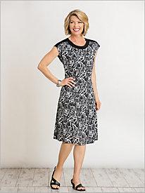 Paisley Knit Dress @...