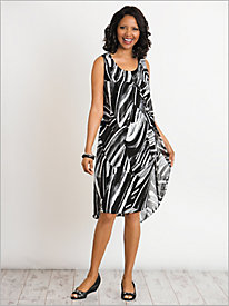 Abstract Wave Flyaway Dress