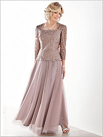 Elegant Embroidered Bodice Dress by Alex Evenings