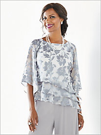 Fancy Floral Tiered Top by Alex Evenings