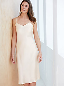 Silk Charmeuse Below-Knee Full Slip