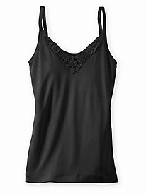 Filament Silk Lace Inset V-Neck Camisole