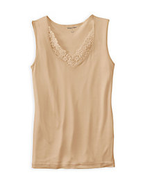 Filament Silk Sweetheart Neckline Tank