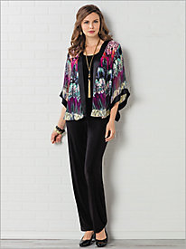 Abstract Animal Print Kimono & Signature Knits® Separates