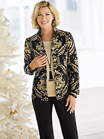 Regal Brocade Jacket & Slimtacular® Diamond Denim Pants