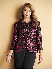 Simply Sequins Jacket by Alex Evenings & Georgette Separates