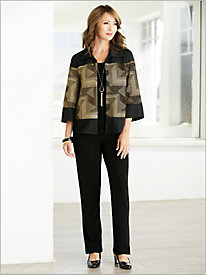 Gold Geo Jacket & Signature Knits® Separates