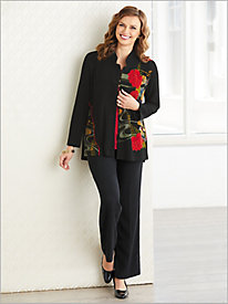 Mandarin Garden Jacket & Textured Stretch Crepe Separates