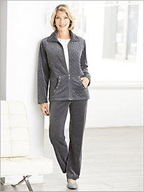 Quilted Premium Velour Jacket Separates