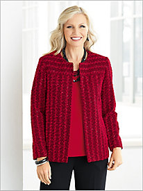 Sparkle Bouclé Jacket by Alfred Dunner