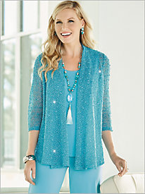 Enchanted Mesh Cascade Cardigan