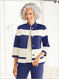 Slimtacular® Pieced Ponte Jacket