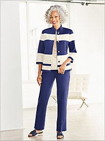 Pieced Ponte Jacket Separates