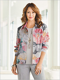 Floral Bomber Jacket by Alfred Dunner