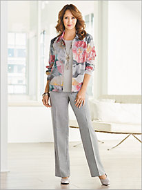 Floral Bomber Jacket Separates by Alfred Dunner