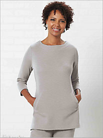 Flatback Rib Knit Tunic by D & D Lifestyle 9185717