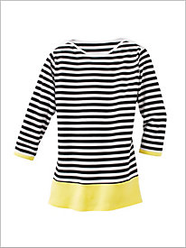 Contrast Border Stripe Tunic
