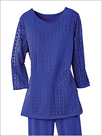 Mix Textured Dot Tunic