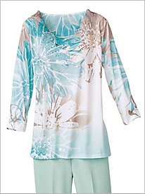 Ladies Who Lunch Floral Top by Alfred Dunner