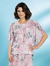 Butterfly Print Top by Alfred Dunner