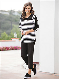 Boardwalk Stripe Tunic Separates by D&D Lifestyle&8482