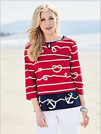 Nautical Knit Tunic @...