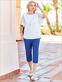 Corsica Solid Textured Top & Capris by Alfred Dunner