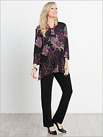 Floral Textured Print Tunic & Signature Knits® Pants