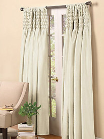 Smocked Lined Rod Pocket Window Panels