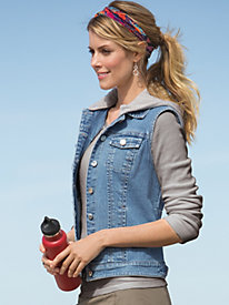 Women's Hoodie or Not Denim Vest