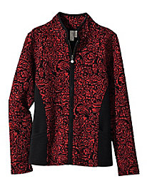 Women's Jacquard Knit Zip Jacket