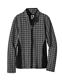 Women's Jacquard Knit Zip Jacket