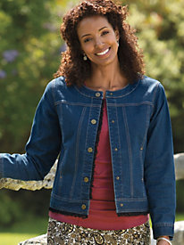 Women's Little Bit O'Lace Jean Jacket