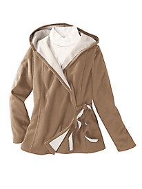 Fleece Wrap Hoodie Jacket