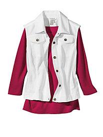Women's Little White Vest